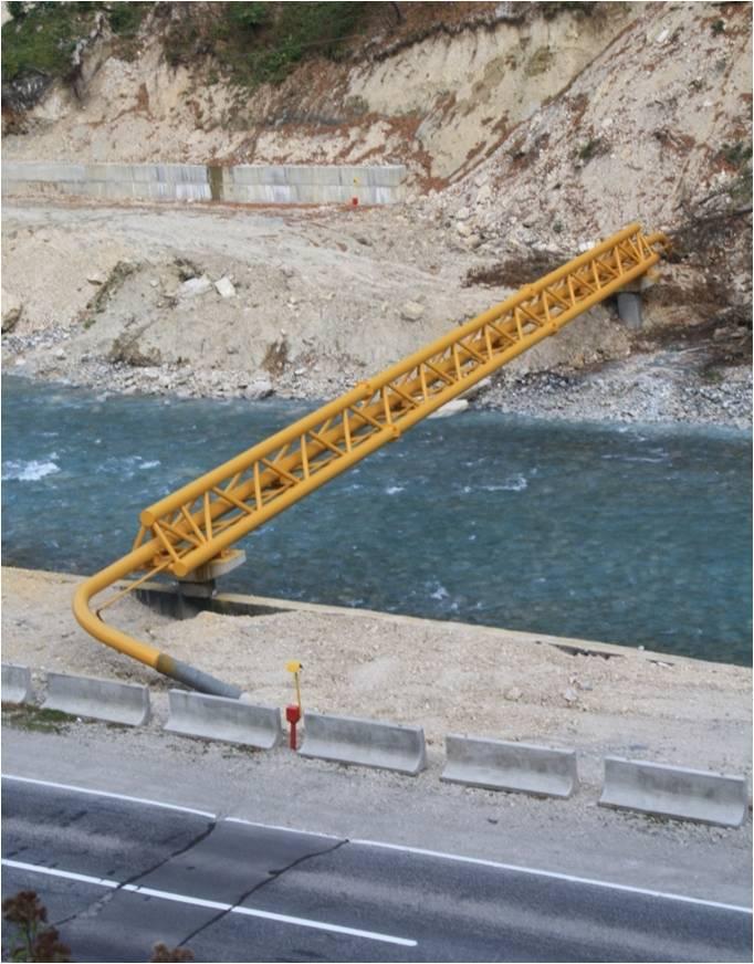 Переход газопровода через водную преграду