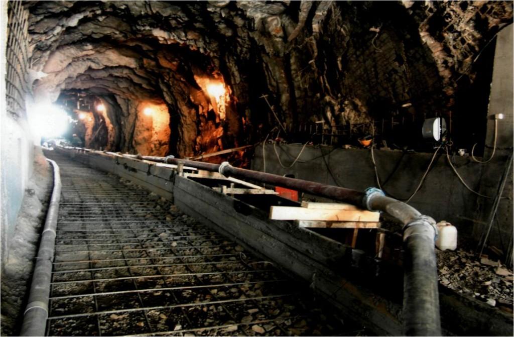 Бетонирование обратного свода тоннеля