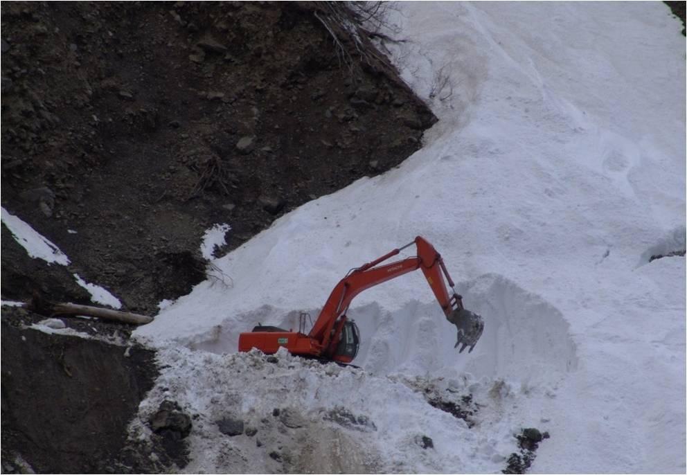 Механизированная расчистка лавин